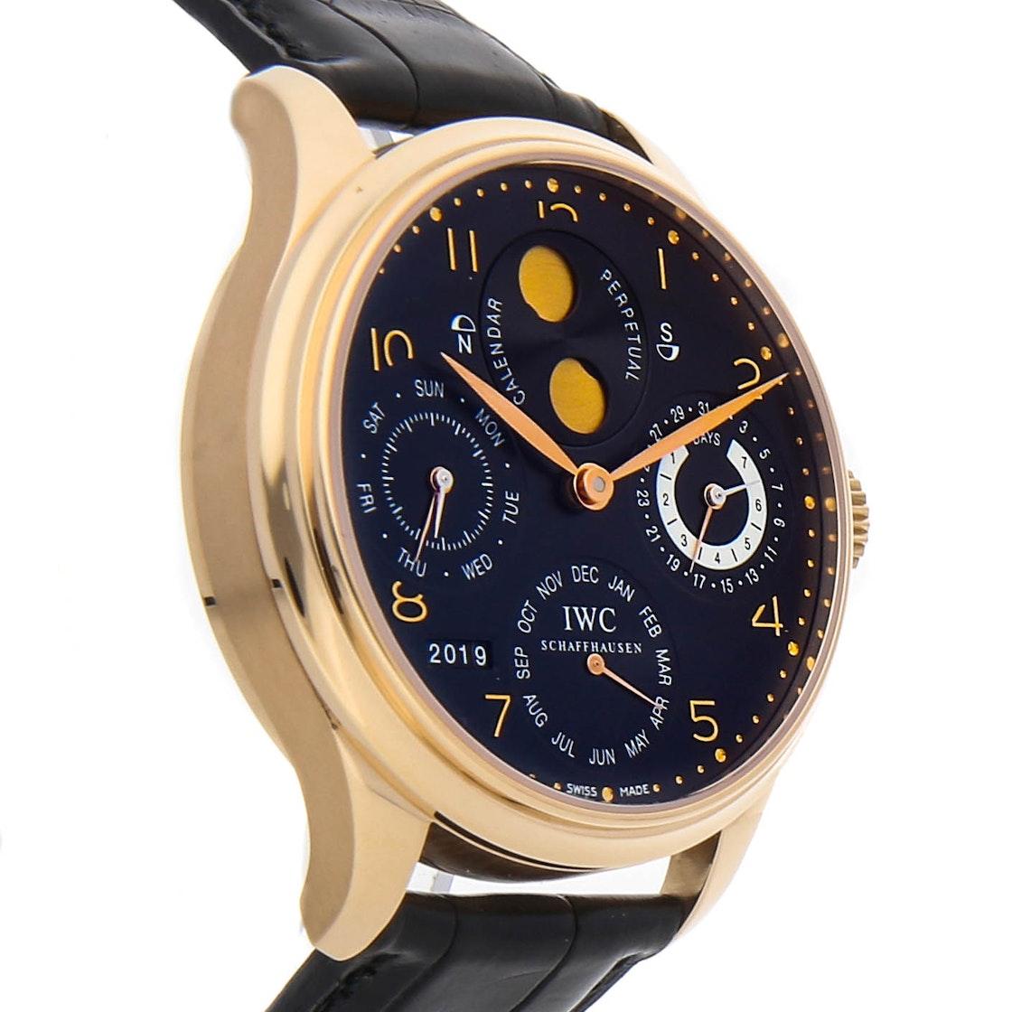 IWC Portuguese Perpetual Calendar Hemisphere Moon Phase IW5021-03