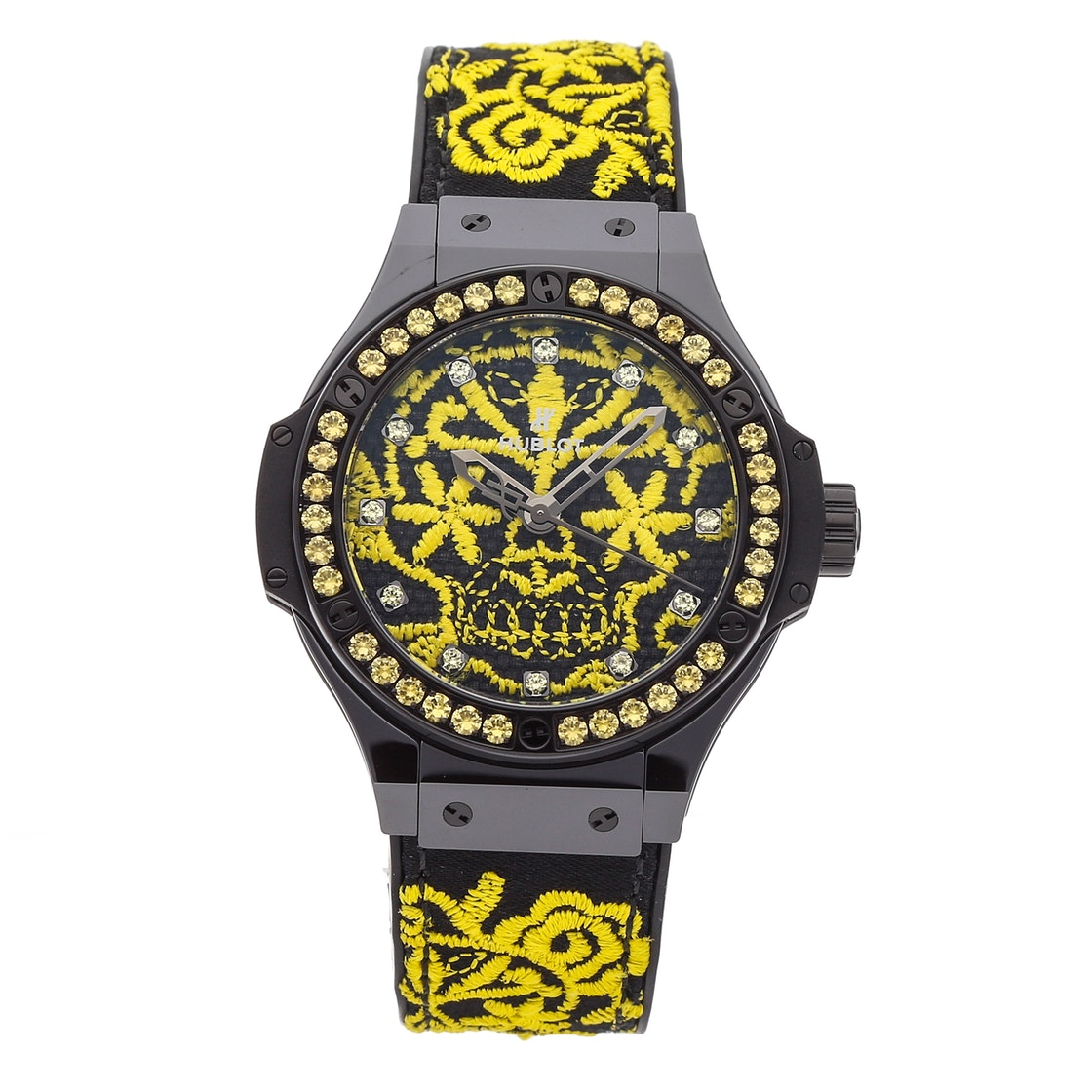 Hublot Big Bang Broderie Sugar Skull Fluo Sunflower Limited Edition 343.CY.6590.NR.1211