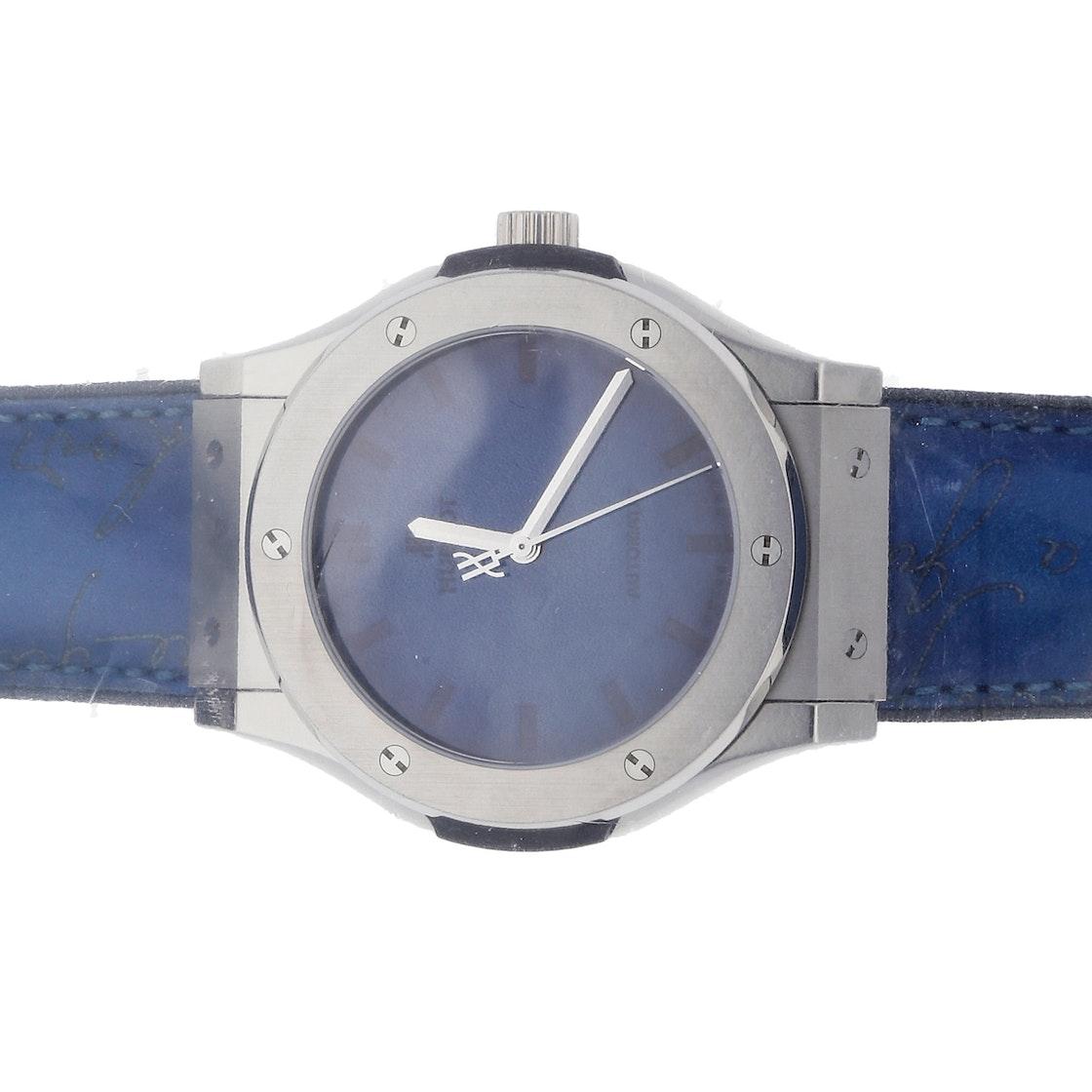 Hublot Classic Fushion Berluti Blue Limited Edition 511.NX.050B.VR.BER16