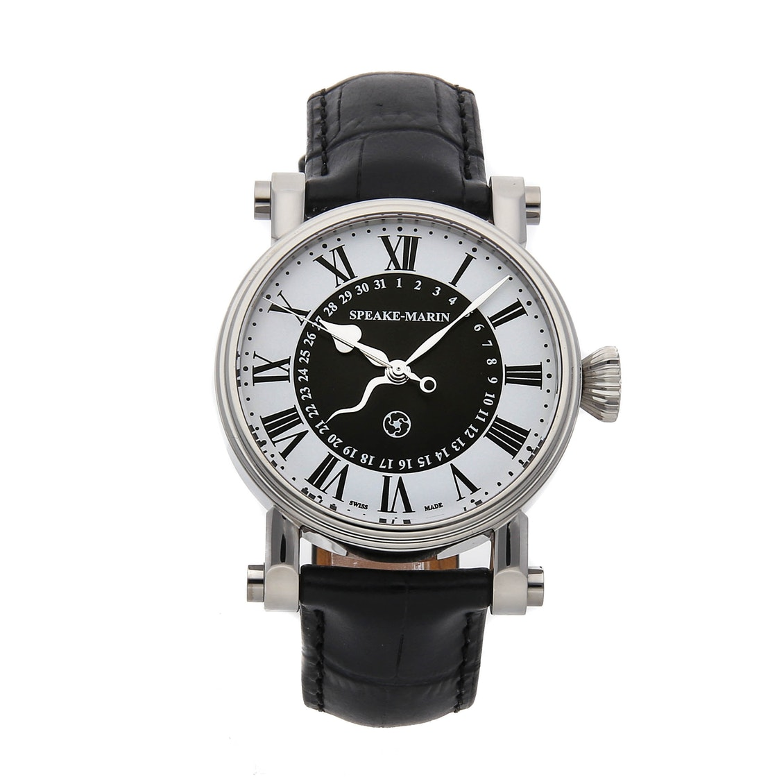 "Speake Marin Serpent Calendar Black ""Piccadilly Case"" 10001-03"