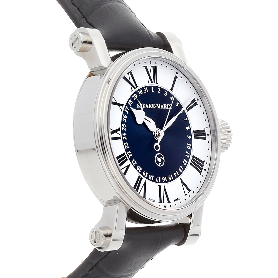 "Speake Marin Serpent Calendar Blue ""Piccadilly Case"" 10001-04"