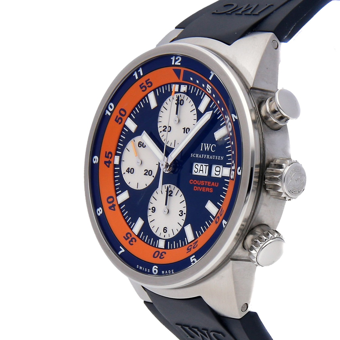 """IWC Aquatimer Chronograph """"Cousteau Divers"""" Limited Edition IW3781-01"""