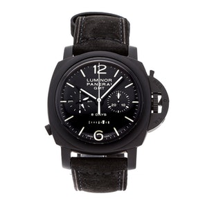 "Panerai Luminor 1950 Moonpulsante GMT 8-Days ""The Black Night"" Limited Edition PAM 317"