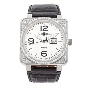 "Bell & Ross BR01-96 Grande Date ""Top Diamond"" BR0196-TOP DIAMO"