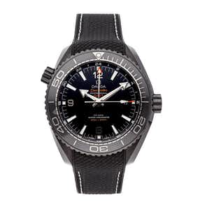 "Omega Seamster Planet Ocean 600m GMT ""Deep Black"" 215.92.46.22.01.001"