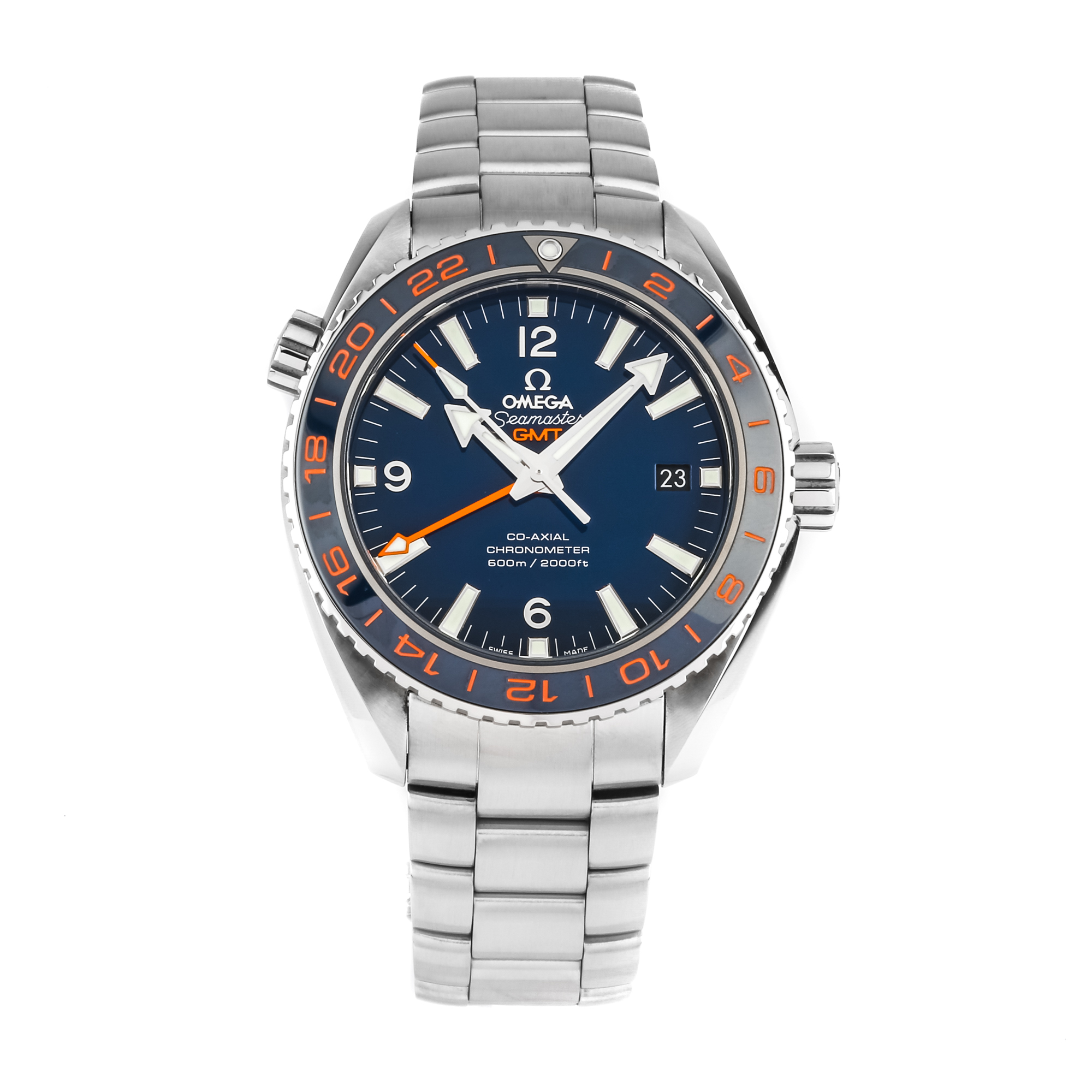 """Omega Seamaster Planet Ocean 600m Co-Axial GMT """"Good Planet"""" 232.30.44.22.03.001"""
