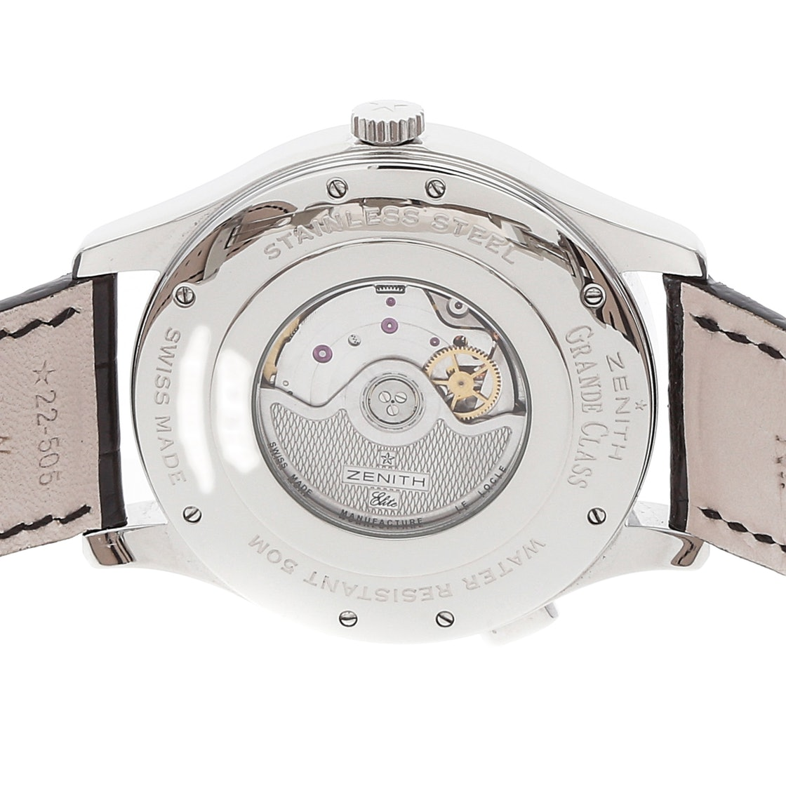 Zenith Elite Grande Class Reserve de Marche Dual Time 03.0520.683/01.C492
