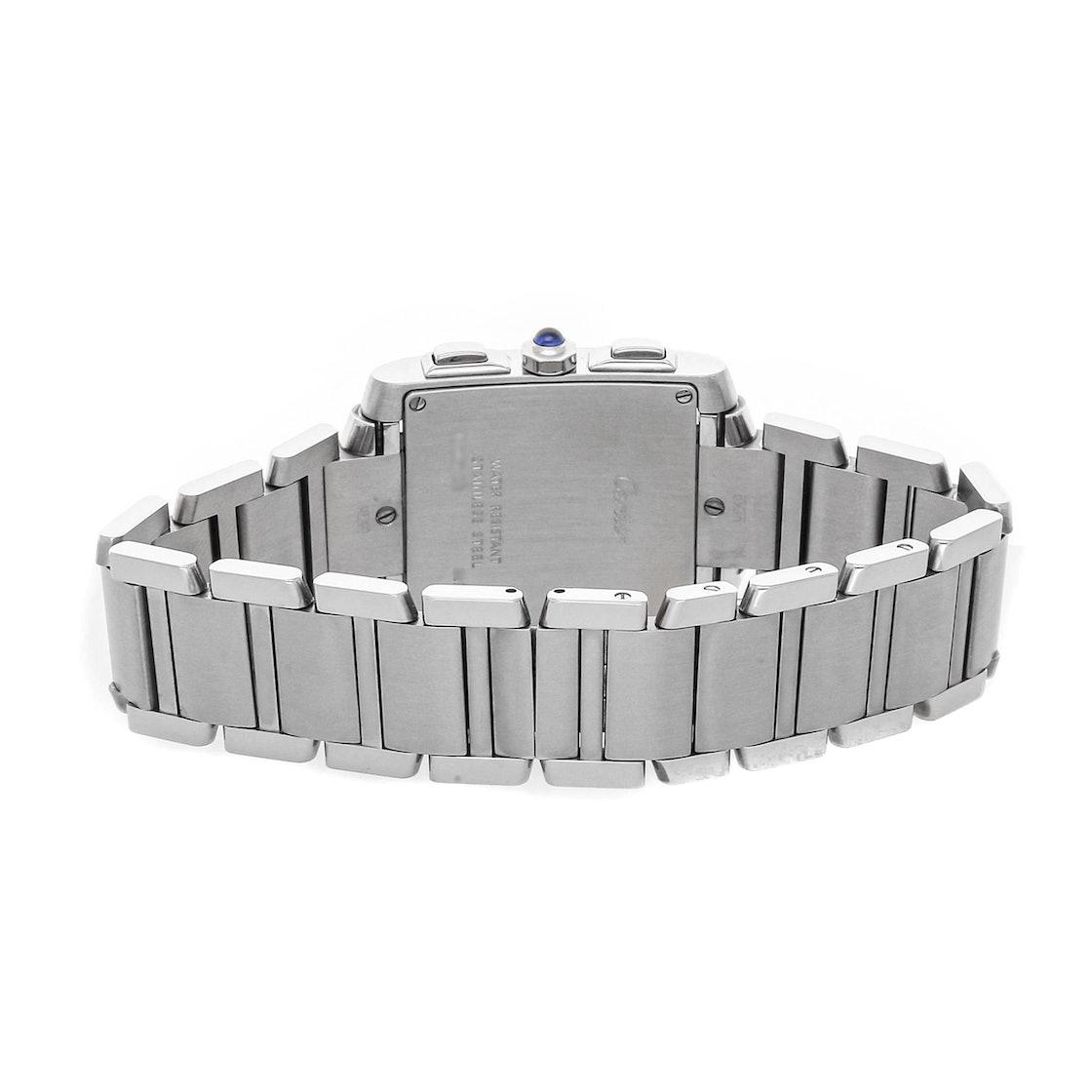 Cartier Tank Francaise Chronoflex W51024Q3