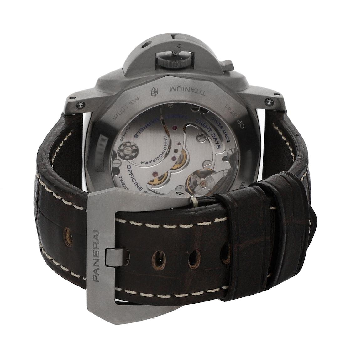 Panerai Luminor 1950 Chronograph Monopulsante 8-Days GMT Titanio PAM 311