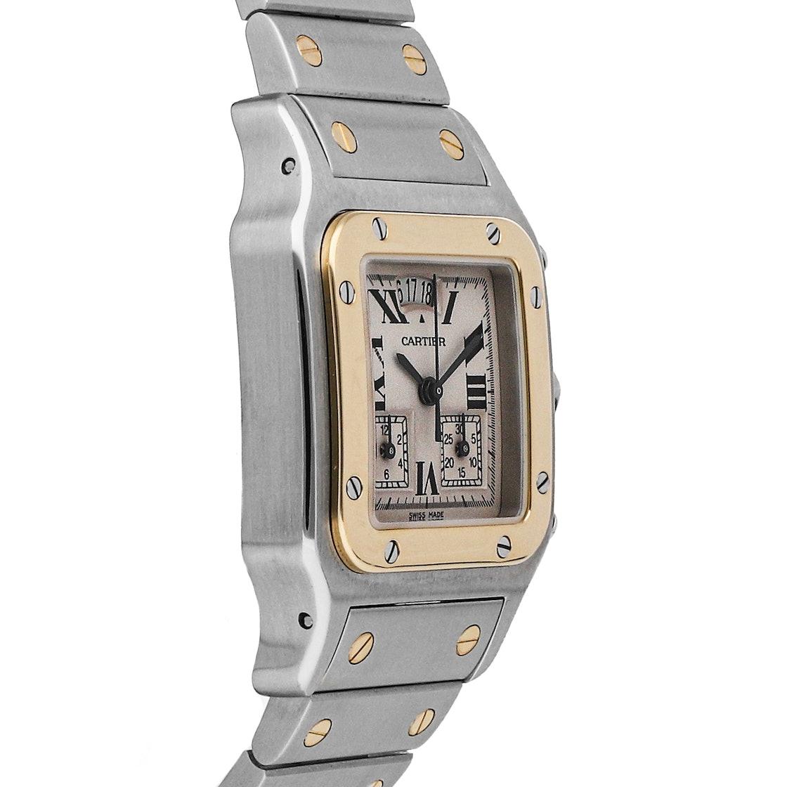 Cartier Santos Galbee Chronoflex W20042C4