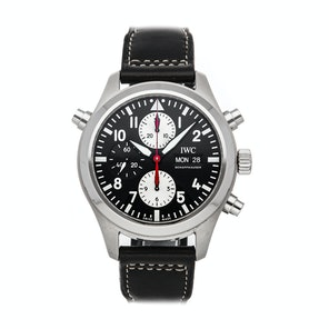 IWC Pilot's Watch Double Chronograph Watches of Switzerland Limited Edition IW3718-13