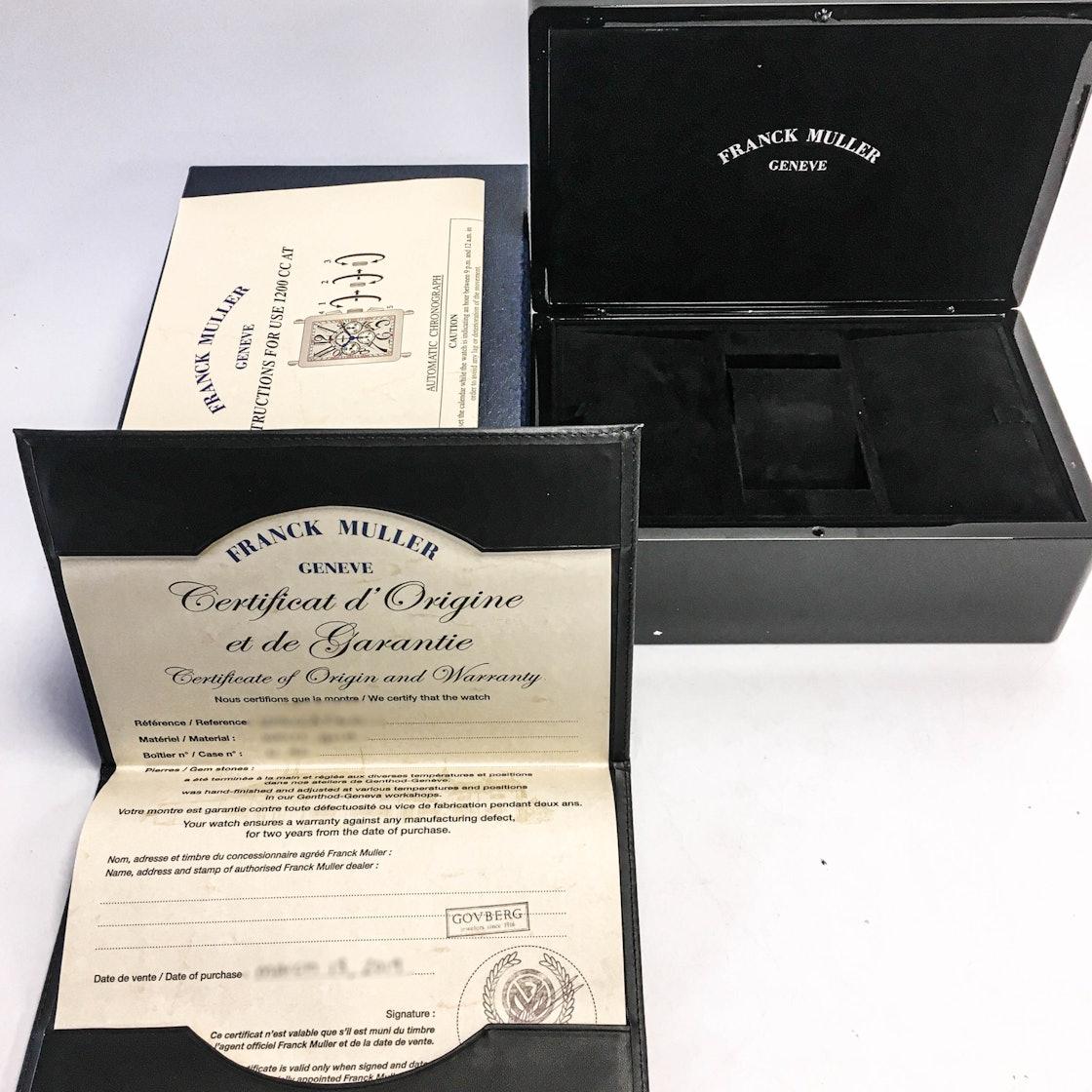 Franck Muller Long Island Chronograph 1200 CC AT WG