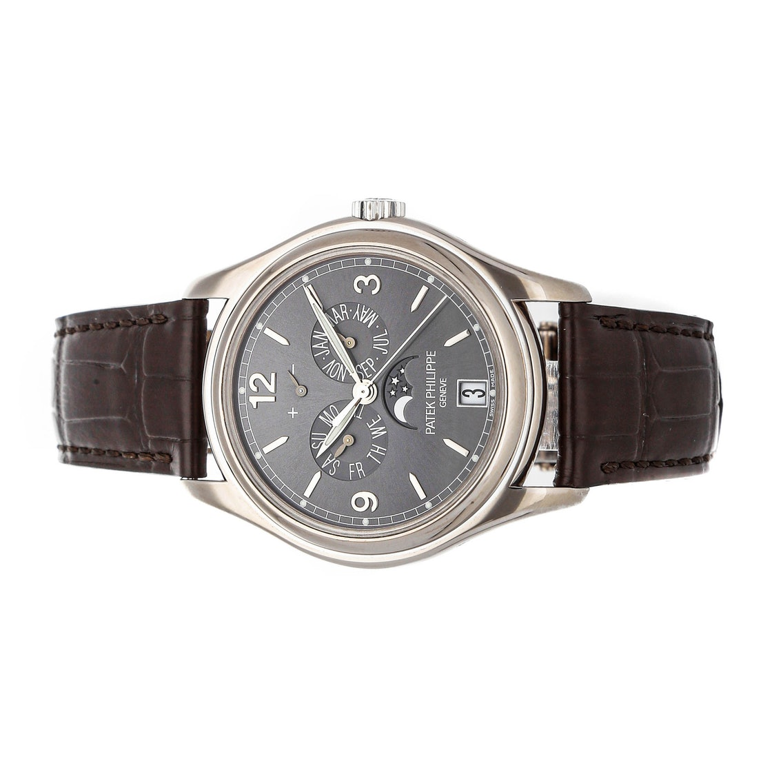 Patek Philippe Complications Annual Calendar Moon Phases 5146G-010
