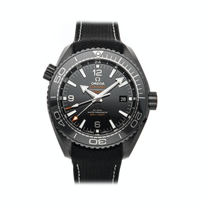 "Omega Seamaster Planet Ocean ""Deep Black"" 600M Co-Axial Master Chronometer GMT 215.92.46.22.01.001"