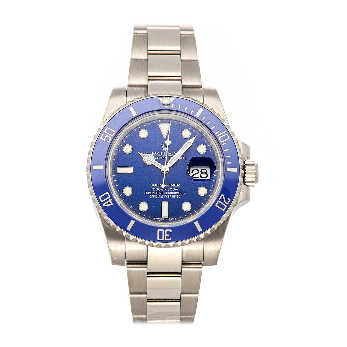 """Rolex Submariner """"Smurf"""" 116619LB"""