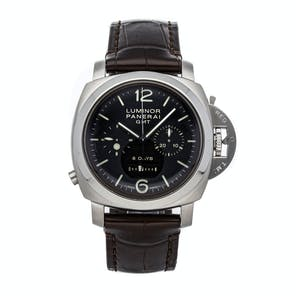 Pre-Owned Panerai Luminor 1950 8 Days GMT Monopulsante Chonograph PAM 275