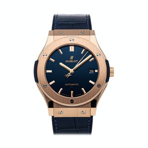 Pre-Owned Hublot Classic Fusion Blue King Gold 511.OX.7180.LR