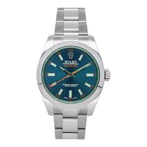 "Pre-Owned Rolex Milgauss ""Z-Blue"" 116400GV"