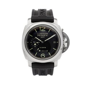 Pre-Owned Panerai Luminor 1950 8-Days GMT Acciaio PAM 233