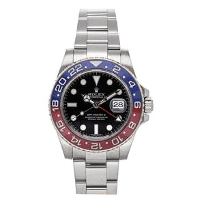 "Pre-Owned Rolex GMT-Master II ""Pepsi"" 116719BLRO"