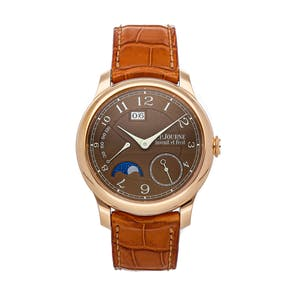 """Pre-Owned F.P. Journe Octa Automatique Lune """"Havana"""" O-ALH G 40 A BR"""