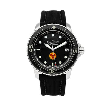 Pre-Owned Blancpain Tribute To Fifty Fathoms Limited Edition 5015B-1130-52A