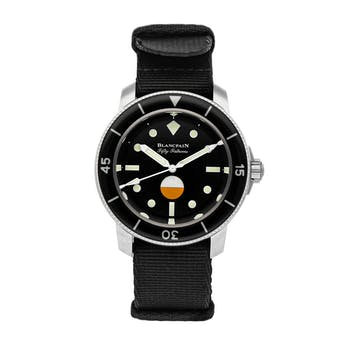 Pre-Owned Blancpain Fifty Fathoms MIL-SPEC Hodinkee Limited Edition 5008-11B30-NABA